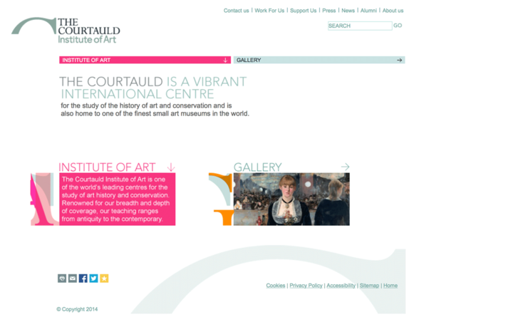 Courtauld Institute of Art website home page built by Platform3