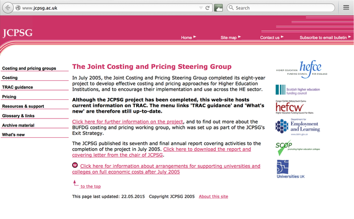 2001 JCPSG home page