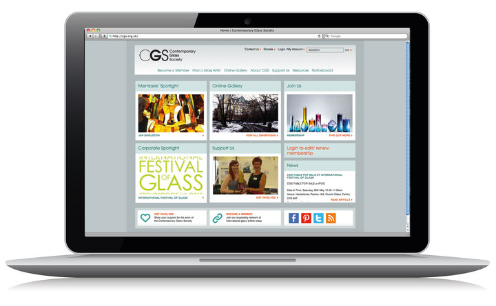 Contemporary Glass Society home page