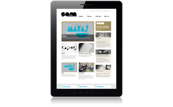 Sound and Music website home page