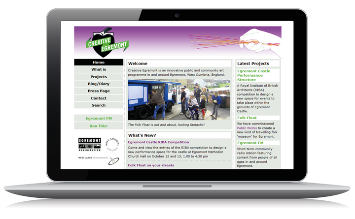 2006 Creative Egremont home page
