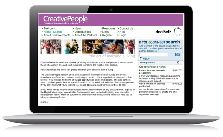 2005 Creative People home page