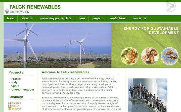 2007 Falck Renewables home page