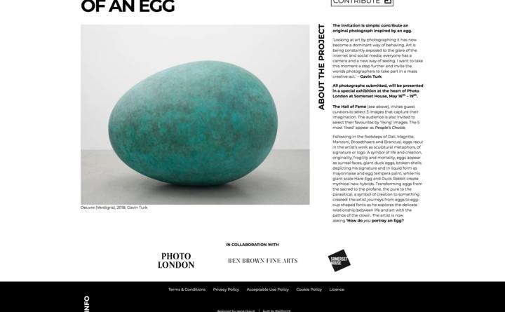 Gavin Turk - Portrait of an Egg