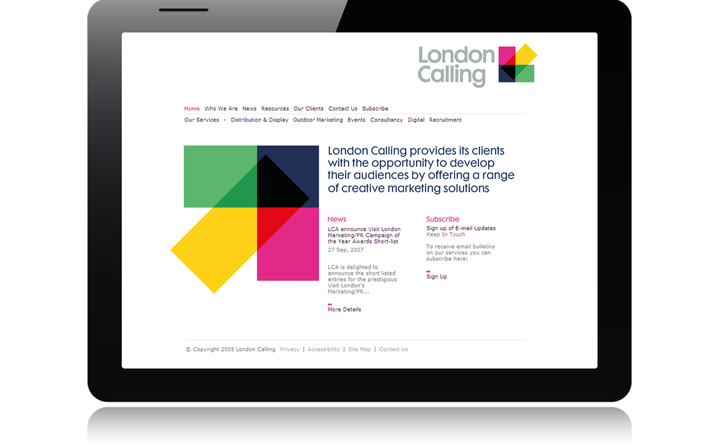 2007 London Calling home page