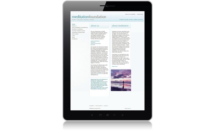 2010 Meditation Foundation home page
