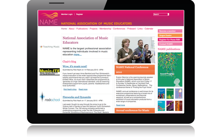 2009 NAME - National Association of Music Educators home page