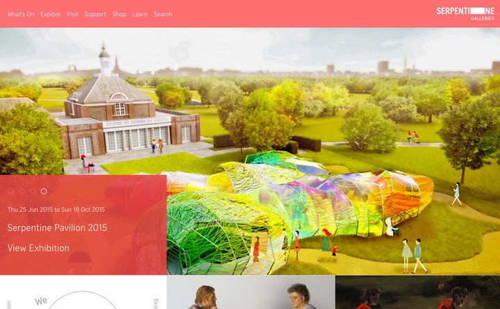 2015 Serpentine Galleries home page