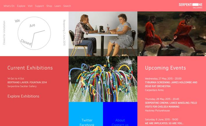 Serpentine Galleries home page