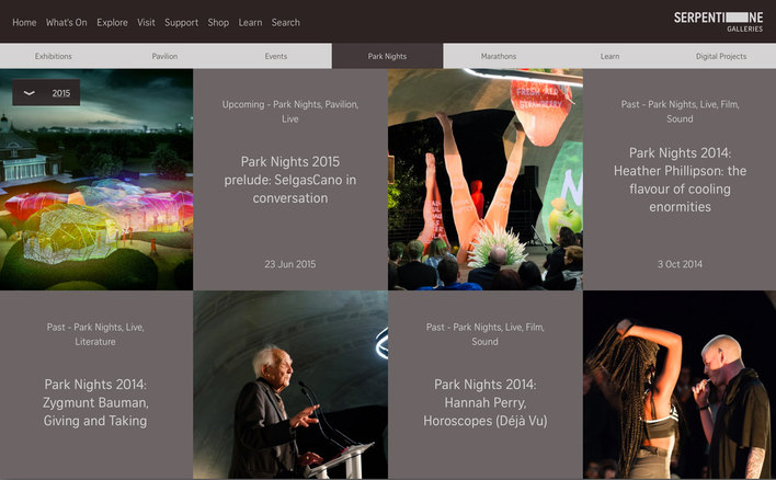 2015 Serpentine Galleries Explore, Park Nights