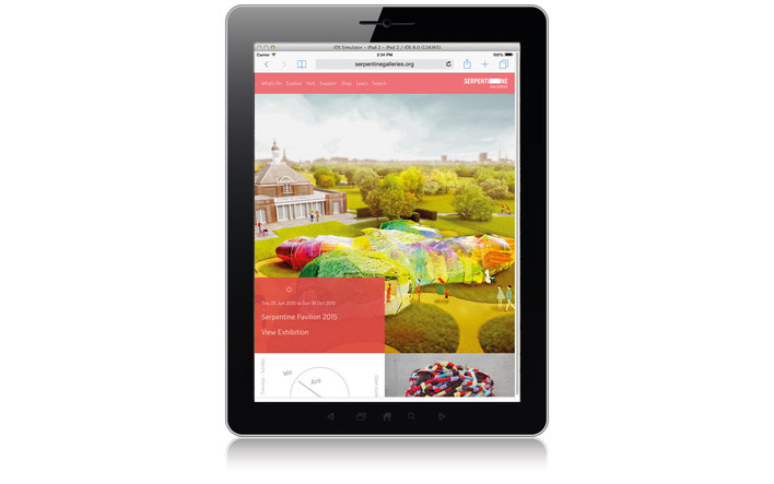 Serpentine Galleries home page