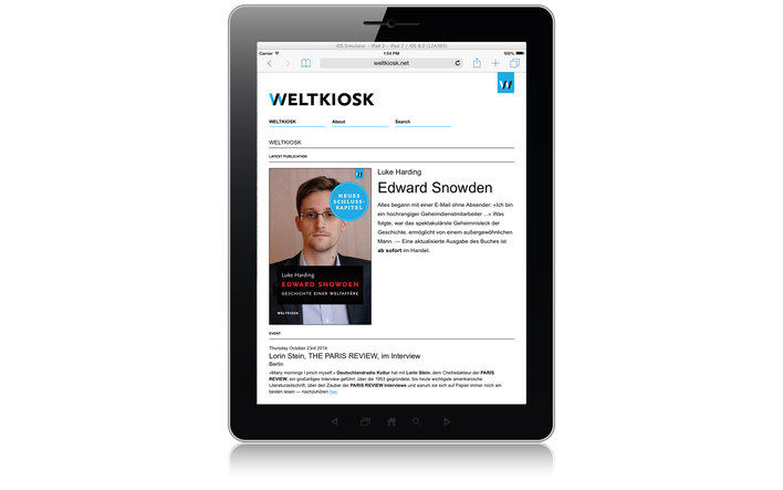 Weltkiosk home page
